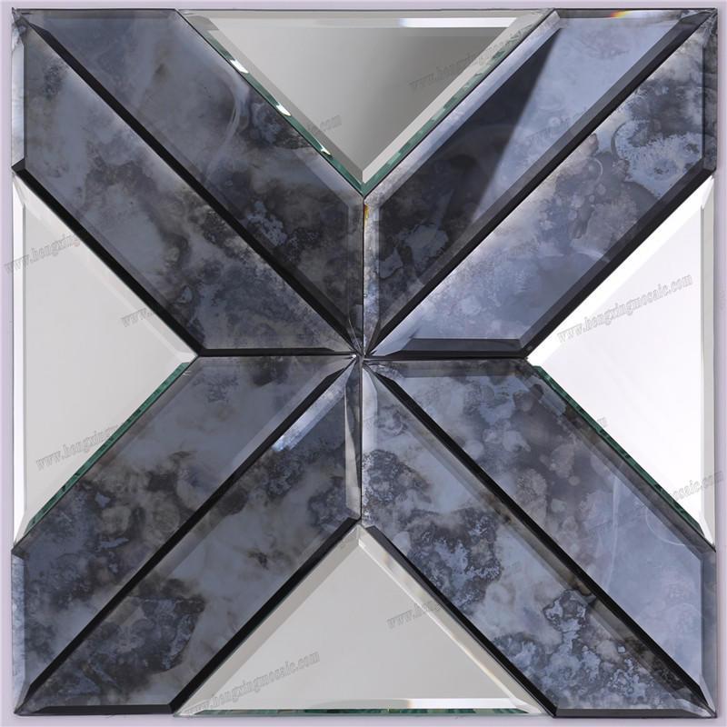 Fashion Decorative Bevel Antique Mirror Glass Mosaic HSPJ19
