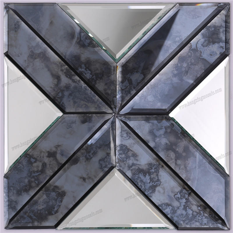 Fashion Decorative Bevel Antique Mirror Glass Mosaic HSPJ19