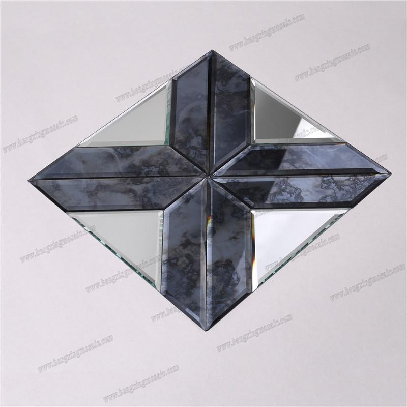 product-Fashion Decorative Bevel Antique Mirror Glass Mosaic HSPJ19-Heng Xing-img