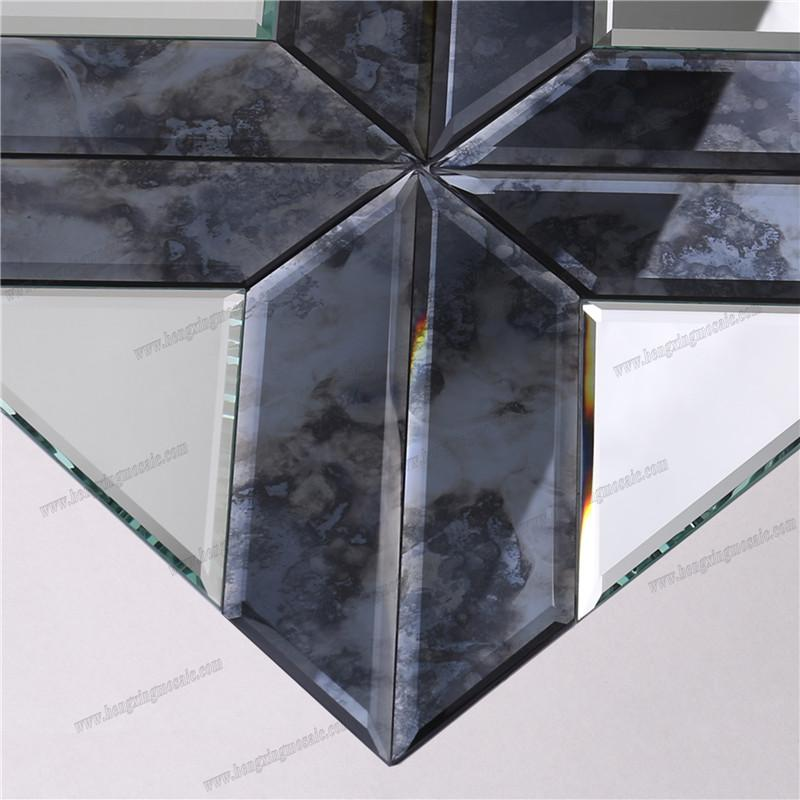 product-Decorative Bevel Antique Mirror Glass Mosaic-Heng Xing-img