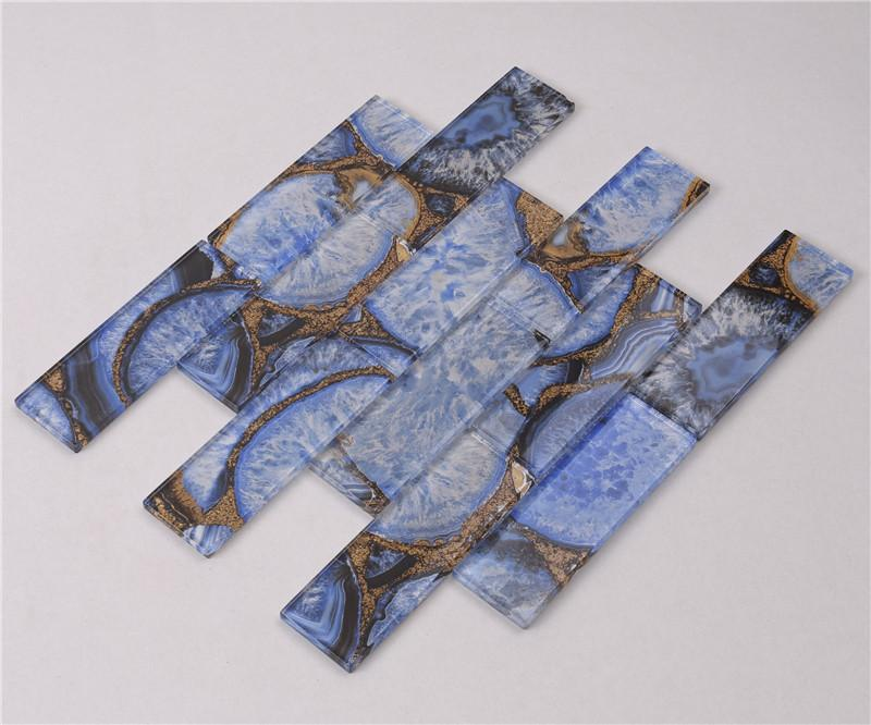 product-Luxury Agate Jade Glass Mosaic Tile for Feature Wall Decoration -HSGW12-D-Heng Xing-img