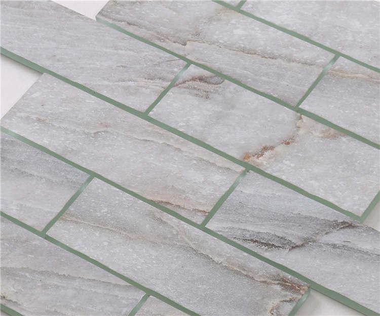 Heng Xing beveled tumbled travertine mosaic company for bathroom