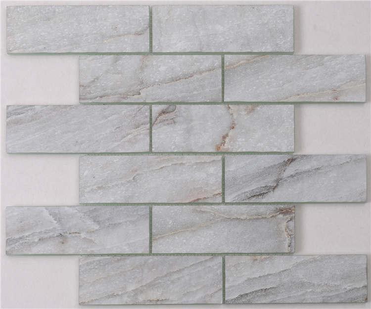 Beautiful inkjet printeding glass decorative mosaic wall tiles HSGW03-H