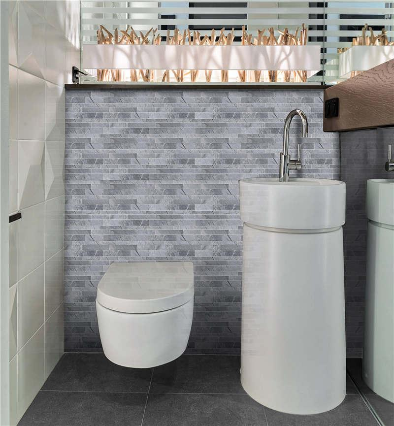 Heng Xing white gray glass subway tile backsplash for business-6