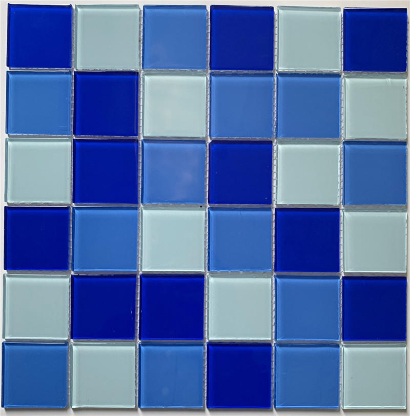 Popular Blue Glass Pool Mosaic Swimming Pools Tiles HSL0286