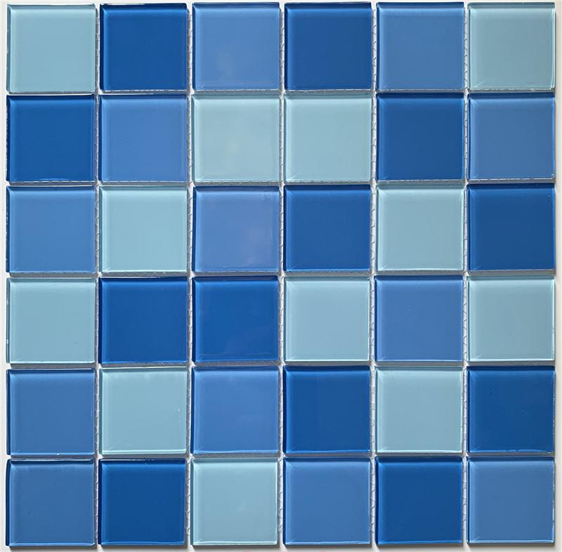 product-Popular Blue Glass Pool Mosaic Swimming Pools Tiles HSL0286-Heng Xing-img