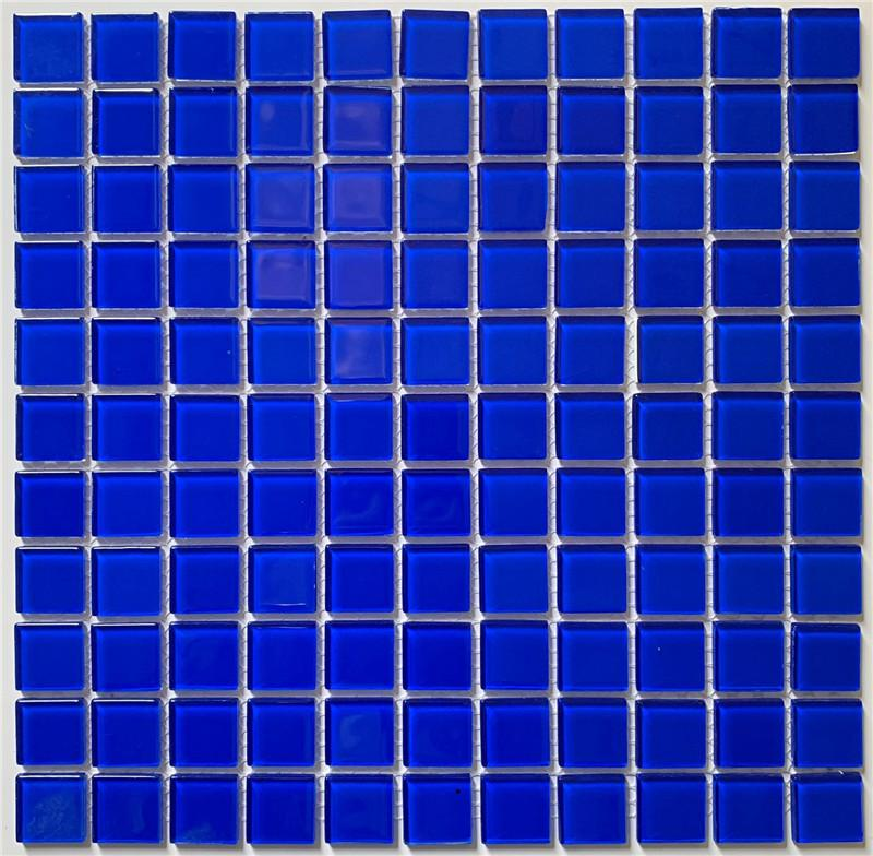 product-1x1 Blue Crystal Glass Mosaic for Swimming Pool HSL0077-Heng Xing-img