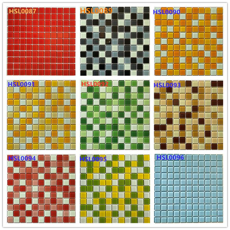 product-Heng Xing-1x1 Blue Crystal Glass Mosaic for Swimming Pool HSL0077-img