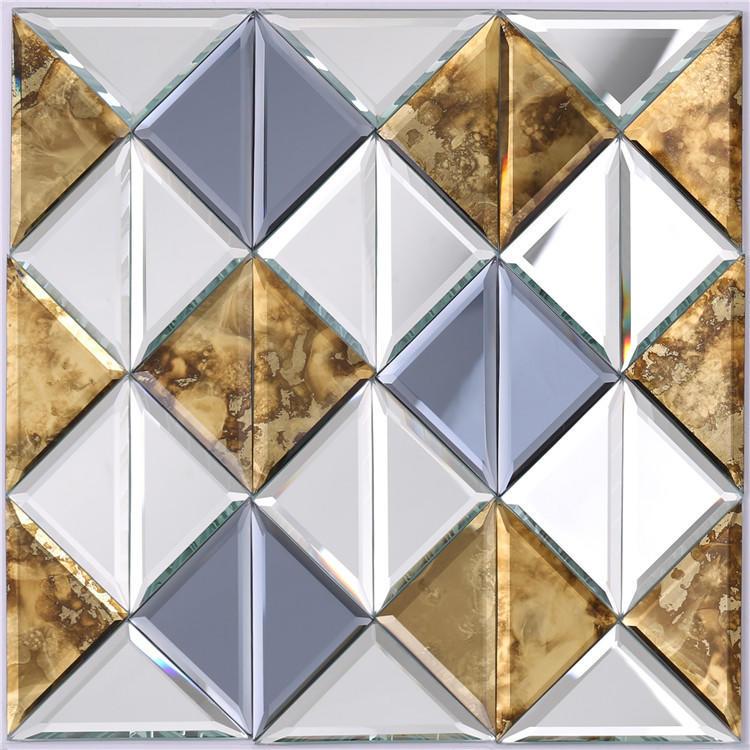 Shinning Square mirror crystal glass mosaic tiles HSPJ34