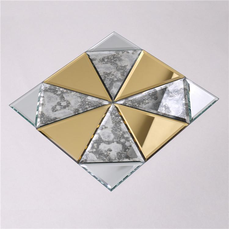 product-Gold and Silver Glass Mosaic Mirror Tiles for Wall Decoration HSPJ12-Heng Xing-img