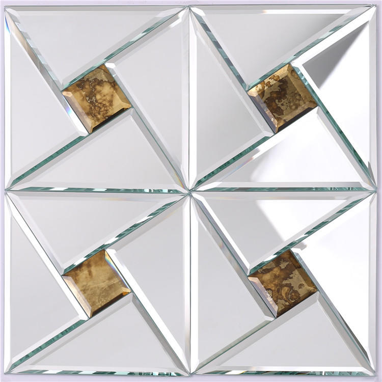 Shine Silver Mirror Glass Mosaic Tiles HSPJ24