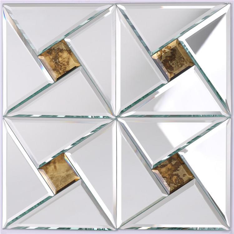 Shine Silver Mirror Glass Mosaic Tiles HSPJ24