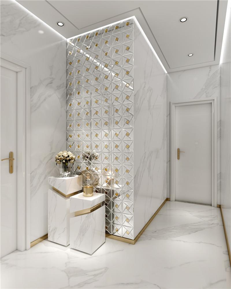 Latest glass linear tile gray company-6
