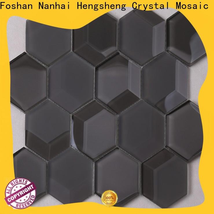 Best black hexagon splash factory price for hotel