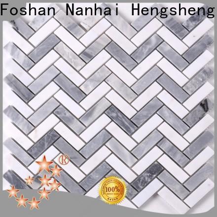 Heng Xing gray carrara mosaic tile factory for bathroom