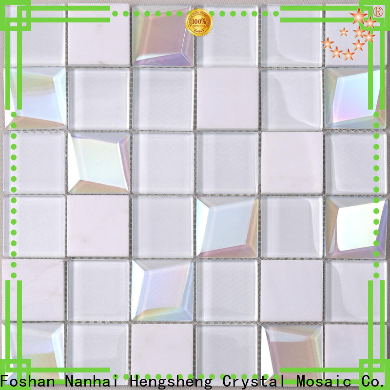 Heng Xing Best 1x1 glass tile sheets factory price for kitchen