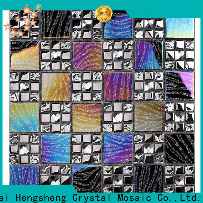Heng Xing 3x3 stainless steel mosaic backsplash wholesale for hotel
