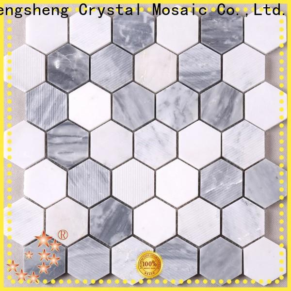 Heng Xing metal gray mosaic tile manufacturers for living room