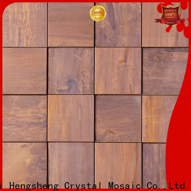 Heng Xing brown metal wall tiles company for restuarant