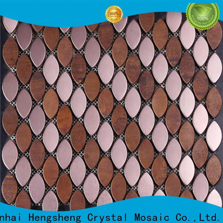 quality square mosaic tiles copper manufacturers for restuarant