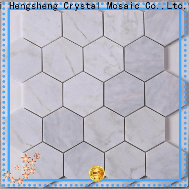 Heng Xing 3x3 glass stone mosaic inquire now for backsplash