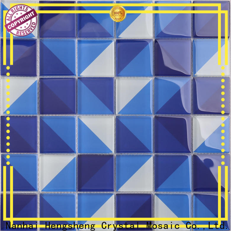 Heng Xing Wholesale grey glass mosaic tiles company for spa