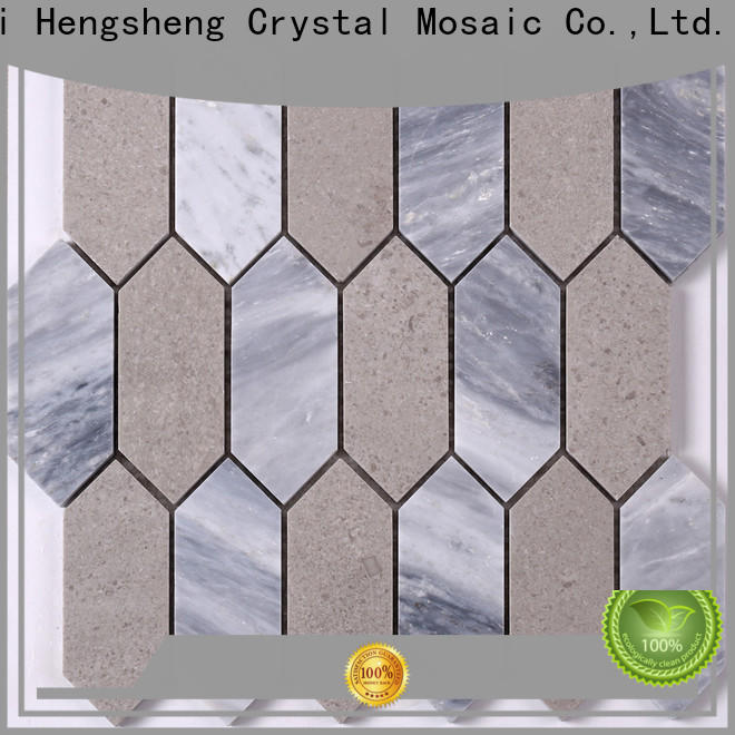 New glass stone mosaic tile grey manufacturers for kitchen