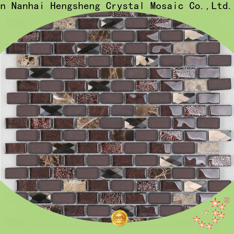 Heng Xing 3x3 backsplash glass tiles personalized for kitchen