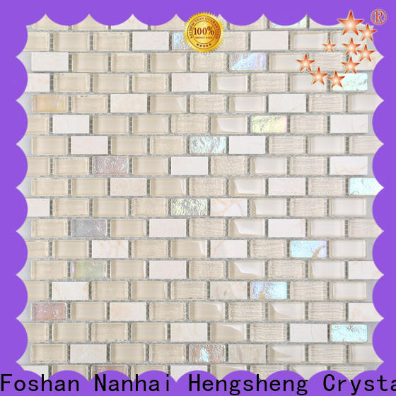 Heng Xing electroplated bamboo glass tile for business for living room