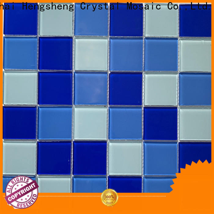 Heng Xing Latest blue mosaic bathroom tiles factory price for bathroom
