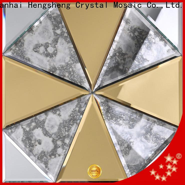 Heng Xing golden hexagon white tile wholesale for living room