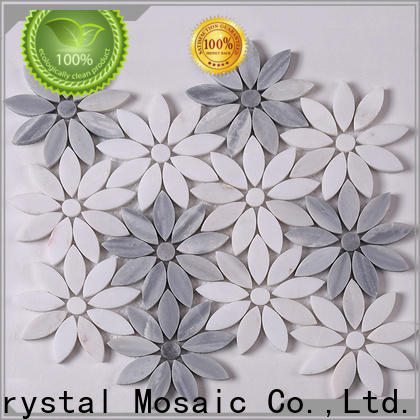 marble grey mosaic wall tiles stone Supply for bathroom