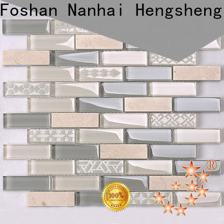 Custom wood and marble tile grey personalized for hotel