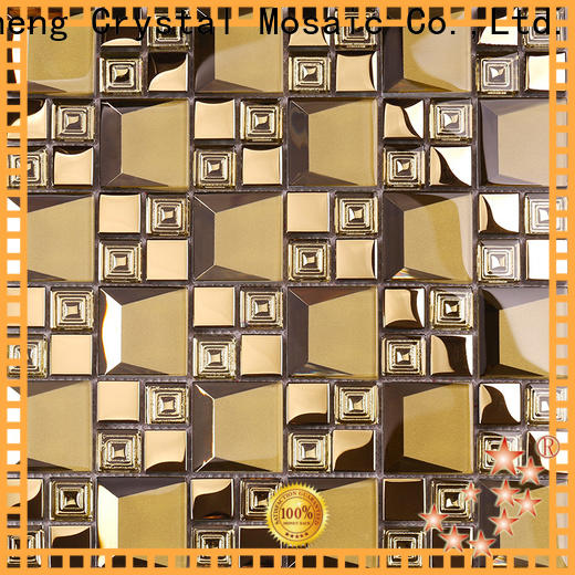 square sea glass tile decoration Supply for hotel