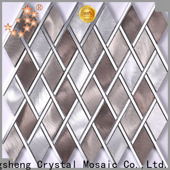 Heng Xing metal green glass mosaic tile Suppliers for kitchen