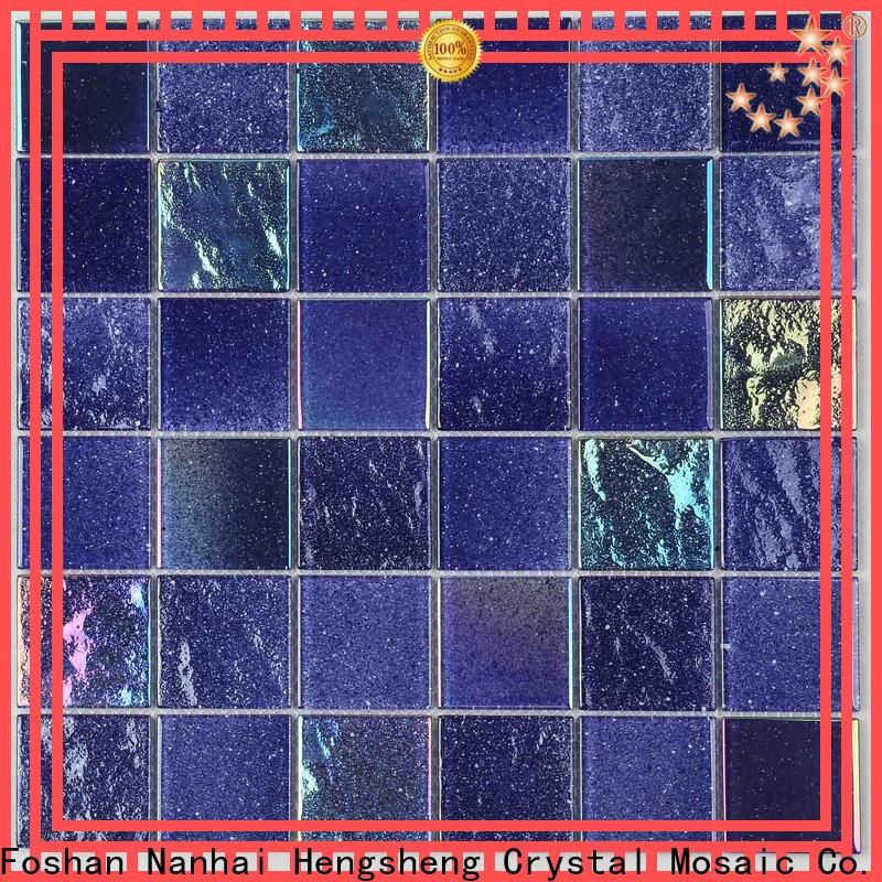 Heng Xing hand iridescent glass pool tile personalized for spa