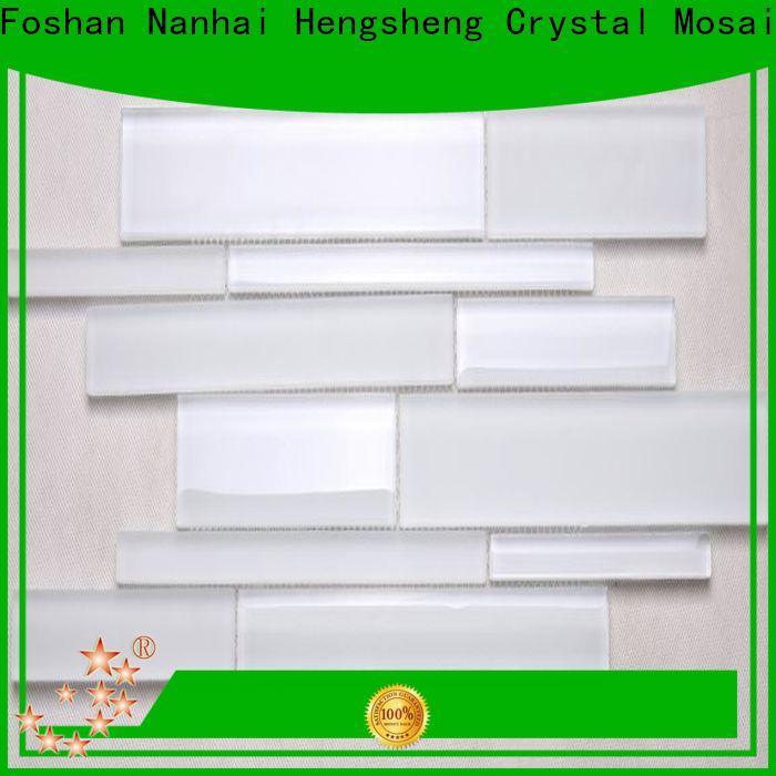 Heng Xing spray chevron glass tile backsplash company for living room