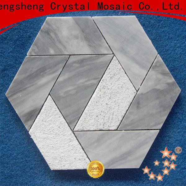 Heng Xing beautiful blue grey mosaic tiles company for backsplash