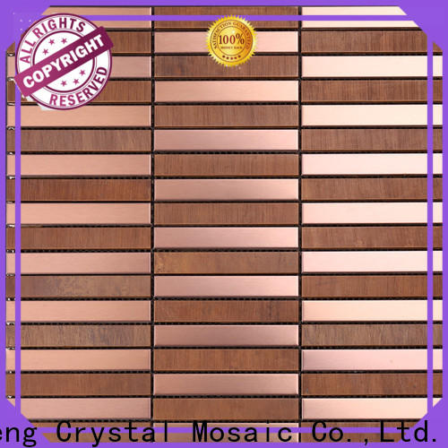 Heng Xing certificated metal mosaic tile Suppliers for bathroom