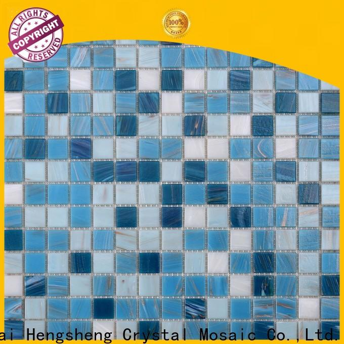Heng Xing hand white glass tile factory for fountain
