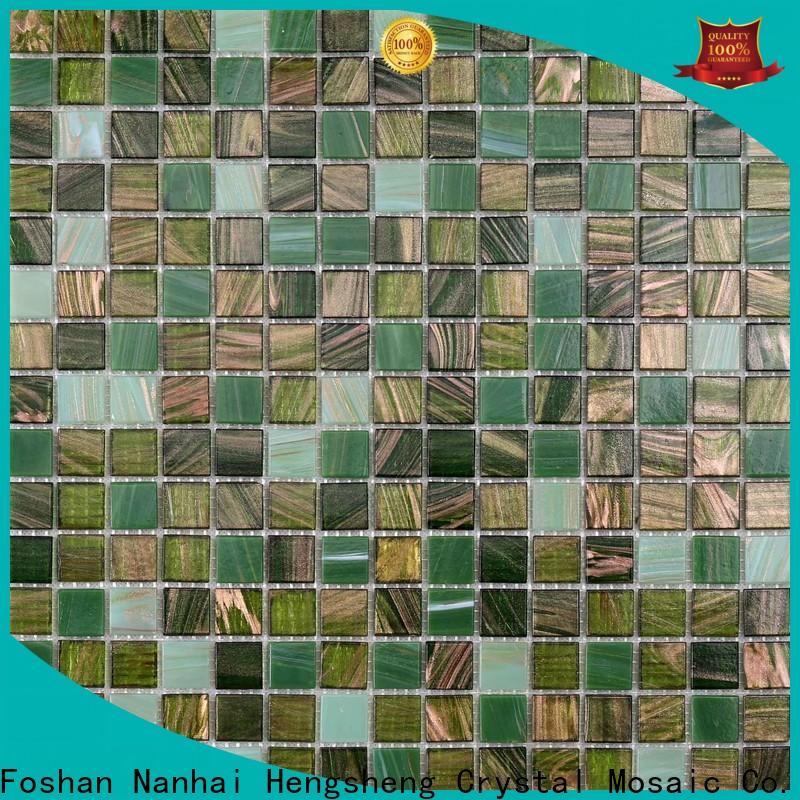 Heng Xing hand iridescent mosaic tiles supplier for spa