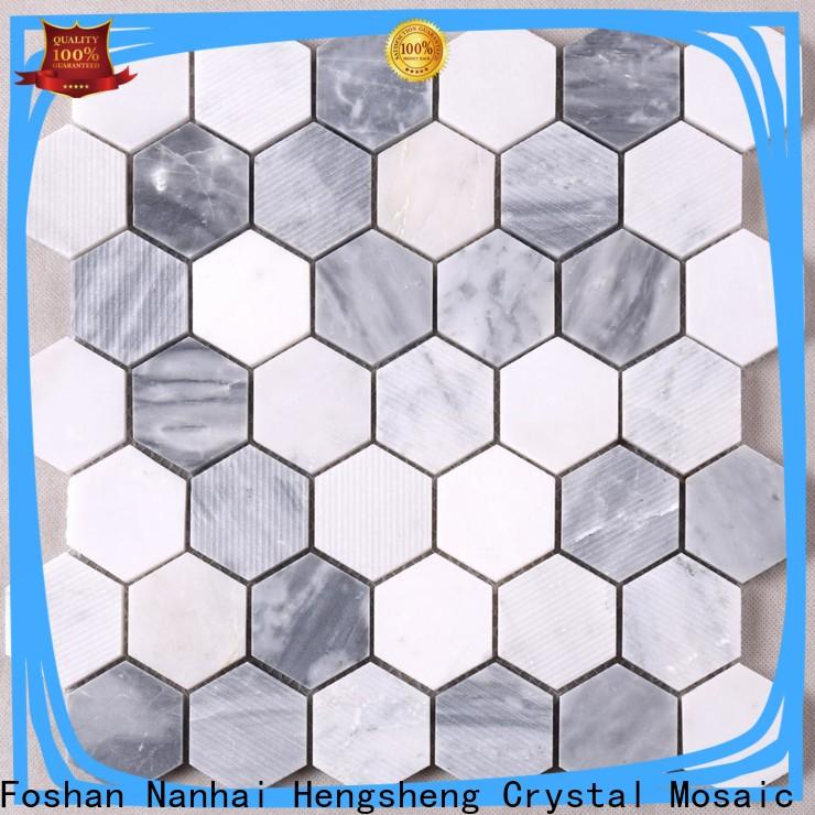 Heng Xing Carrara decorative mosaic tiles Suppliers for kitchen