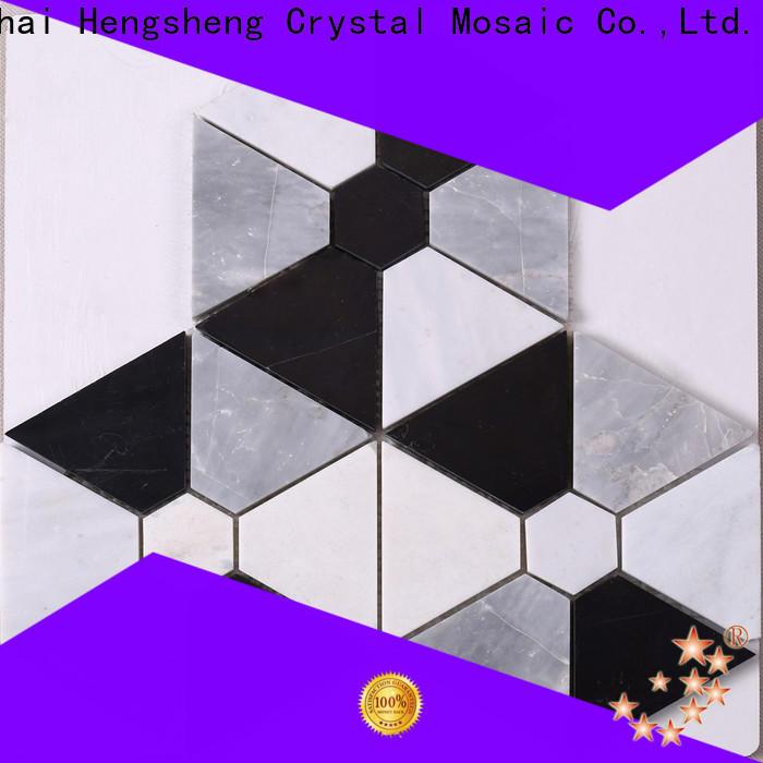 Heng Xing stone marble mosaic tile backsplash company for living room
