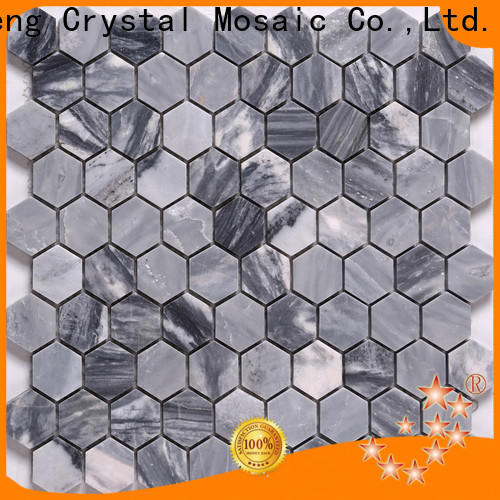 Heng Xing white marble mosaic tile backsplash manufacturers for hotel