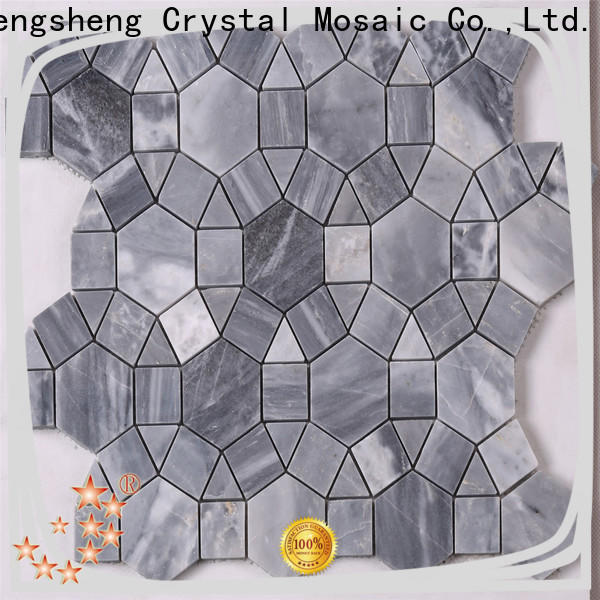 Heng Xing flower marble glass mosaic tile factory for living room