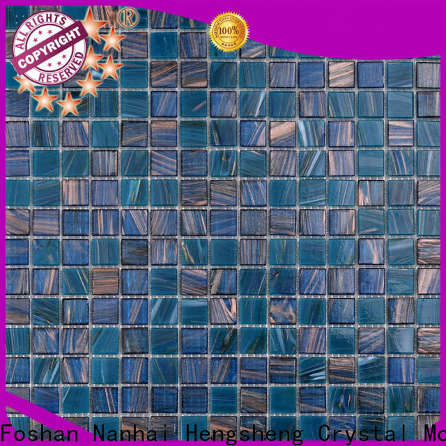 Heng Xing deck fish scale glass tile Suppliers for swimming pool