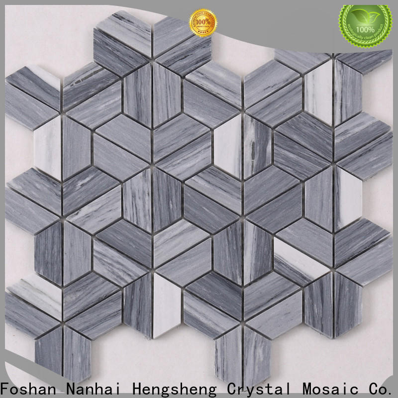Heng Xing white mosaic stones factory for living room