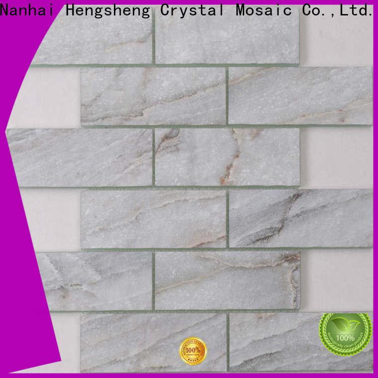 Heng Xing grey arabesque tile white wholesale for living room