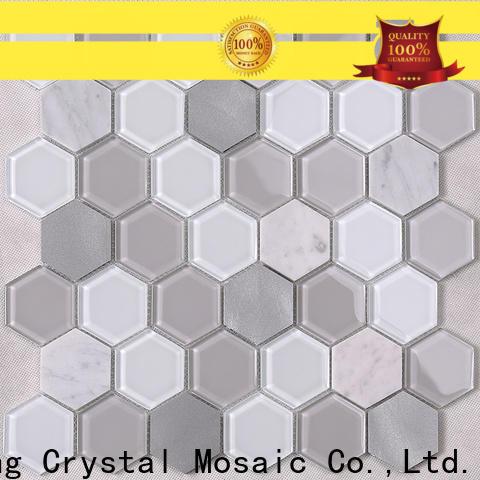 Heng Xing sale copper glass tile backsplash factory for living room