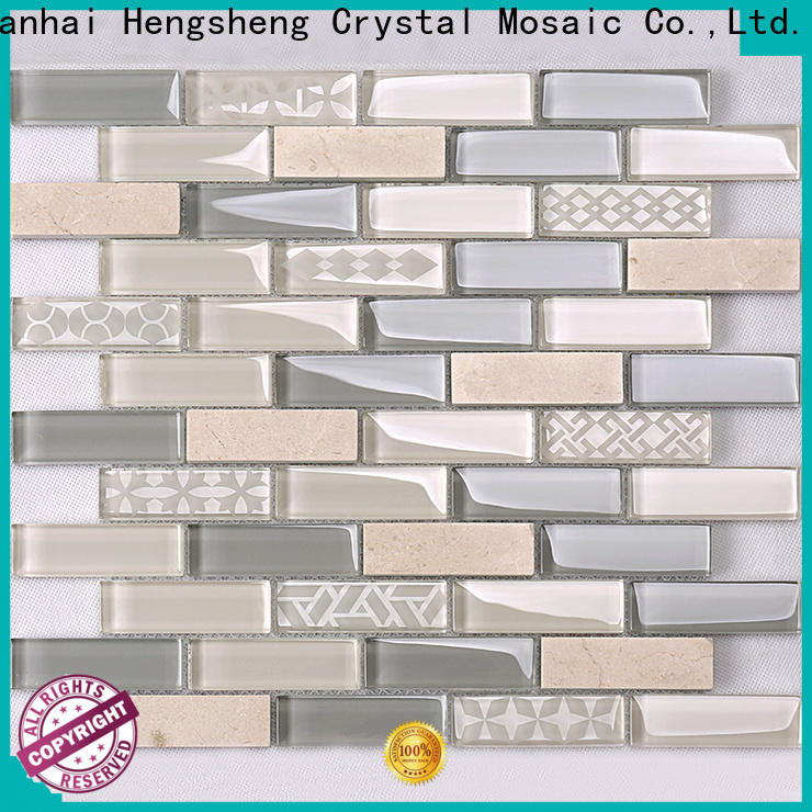 Heng Xing 3x4 penny round glass tile factory price for living room